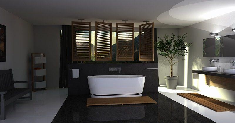 Fancy Bathroom Area